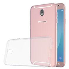 Samsung Galaxy J5 (2017) SM-J750F用極薄ソフトケース シリコンケース 耐衝撃 全面保護 クリア透明 カバー サムスン クリア