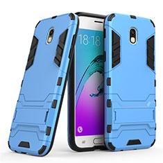 Samsung Galaxy J5 (2017) SM-J750F用ハイブリットバンパーケース スタンド プラスチック 兼シリコーン サムスン ネイビー