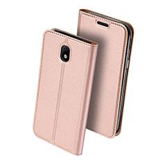 Samsung Galaxy J5 (2017) SM-J750F用手帳型 レザーケース スタンド サムスン ピンク