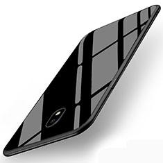 Samsung Galaxy J5 (2017) SM-J750F用シリコンケース ソフトタッチラバー 鏡面 サムスン ブラック