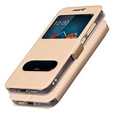 Samsung Galaxy J5 (2017) SM-J750F用手帳型 レザーケース スタンド L01 サムスン ゴールド