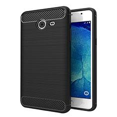 Samsung Galaxy J5 (2017) Version Americaine用シリコンケース ソフトタッチラバー ツイル サムスン ブラック