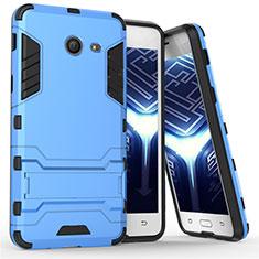 Samsung Galaxy J5 (2017) Version Americaine用ハイブリットバンパーケース スタンド プラスチック 兼シリコーン サムスン ネイビー