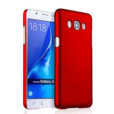 Samsung Galaxy J5 Duos (2016)用ハードケース プラスチック 質感もマット サムスン レッド
