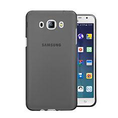 Samsung Galaxy J5 Duos (2016)用極薄ソフトケース シリコンケース 耐衝撃 全面保護 クリア透明 サムスン グレー
