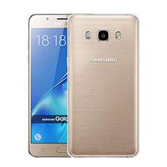 Samsung Galaxy J5 Duos (2016)用極薄ソフトケース シリコンケース 耐衝撃 全面保護 クリア透明 サムスン クリア