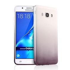 Samsung Galaxy J5 Duos (2016)用極薄ソフトケース グラデーション 勾配色 クリア透明 サムスン グレー
