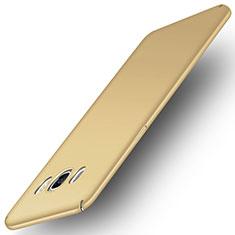 Samsung Galaxy J5 Duos (2016)用ハードケース プラスチック 質感もマット M01 サムスン ゴールド