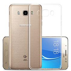 Samsung Galaxy J5 Duos (2016)用極薄ソフトケース シリコンケース 耐衝撃 全面保護 クリア透明 T02 サムスン クリア