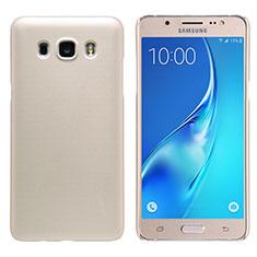 Samsung Galaxy J5 Duos (2016)用ハードケース プラスチック 質感もマット M02 サムスン ゴールド