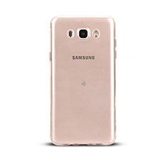 Samsung Galaxy J5 Duos (2016)用極薄ソフトケース シリコンケース 耐衝撃 全面保護 クリア透明 T03 サムスン クリア