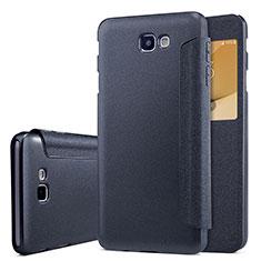 Samsung Galaxy J5 Prime G570F用手帳型 レザーケース スタンド サムスン ブラック