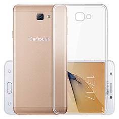 Samsung Galaxy J5 Prime G570F用極薄ソフトケース シリコンケース 耐衝撃 全面保護 クリア透明 T03 サムスン クリア