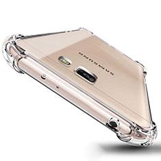 Samsung Galaxy J5 Prime G570F用極薄ソフトケース シリコンケース 耐衝撃 全面保護 クリア透明 T04 サムスン クリア