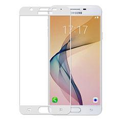Samsung Galaxy J5 Prime G570F用強化ガラス フル液晶保護フィルム サムスン ホワイト