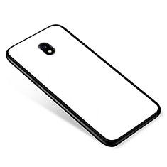 Samsung Galaxy J5 Pro (2017) J530Y用ハイブリットバンパーケース プラスチック 鏡面 カバー サムスン ホワイト