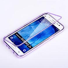 Samsung Galaxy J5 SM-J500F用ソフトケース フルカバー クリア透明 サムスン パープル