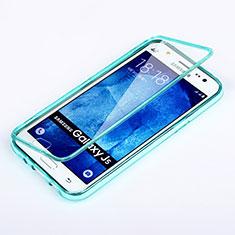 Samsung Galaxy J5 SM-J500F用ソフトケース フルカバー クリア透明 サムスン ブルー