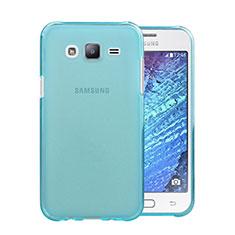 Samsung Galaxy J5 SM-J500F用極薄ソフトケース シリコンケース 耐衝撃 全面保護 クリア透明 サムスン ブルー