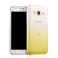 Samsung Galaxy J5 SM-J500F用極薄ソフトケース グラデーション 勾配色 クリア透明 サムスン イエロー