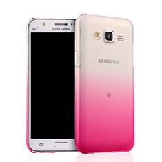 Samsung Galaxy J5 SM-J500F用極薄ソフトケース グラデーション 勾配色 クリア透明 サムスン ピンク
