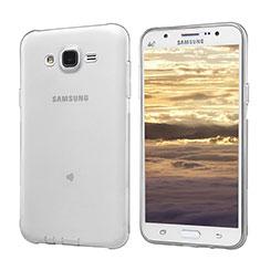 Samsung Galaxy J5 SM-J500F用極薄ソフトケース シリコンケース 耐衝撃 全面保護 クリア透明 T02 サムスン グレー