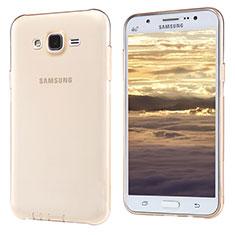 Samsung Galaxy J5 SM-J500F用極薄ソフトケース シリコンケース 耐衝撃 全面保護 クリア透明 T02 サムスン ゴールド