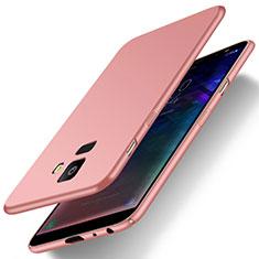Samsung Galaxy J6 (2018) J600F用ハードケース プラスチック 質感もマット M01 サムスン ローズゴールド