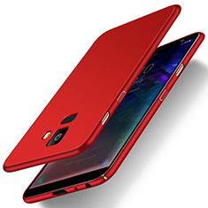 Samsung Galaxy J6 (2018) J600F用ハードケース プラスチック 質感もマット M01 サムスン レッド