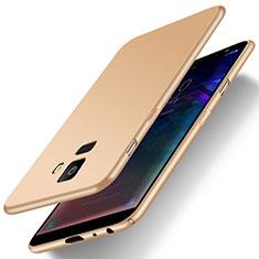 Samsung Galaxy J6 (2018) J600F用ハードケース プラスチック 質感もマット M01 サムスン ゴールド