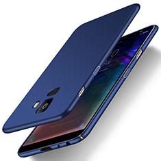Samsung Galaxy J6 (2018) J600F用ハードケース プラスチック 質感もマット M01 サムスン ネイビー