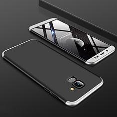 Samsung Galaxy J6 (2018) J600F用ハードケース プラスチック 質感もマット 前面と背面 360度 フルカバー サムスン シルバー