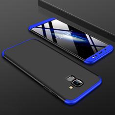 Samsung Galaxy J6 (2018) J600F用ハードケース プラスチック 質感もマット 前面と背面 360度 フルカバー サムスン ネイビー・ブラック