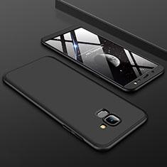 Samsung Galaxy J6 (2018) J600F用ハードケース プラスチック 質感もマット 前面と背面 360度 フルカバー サムスン ブラック