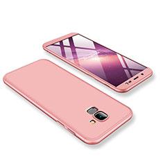 Samsung Galaxy J6 (2018) J600F用ハードケース プラスチック 質感もマット 前面と背面 360度 フルカバー サムスン ローズゴールド