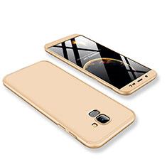 Samsung Galaxy J6 (2018) J600F用ハードケース プラスチック 質感もマット 前面と背面 360度 フルカバー サムスン ゴールド