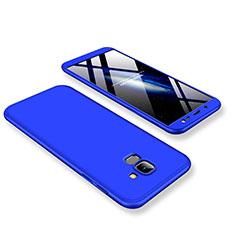 Samsung Galaxy J6 (2018) J600F用ハードケース プラスチック 質感もマット 前面と背面 360度 フルカバー サムスン ネイビー