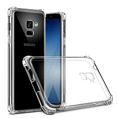 Samsung Galaxy J6 (2018) J600F用極薄ソフトケース シリコンケース 耐衝撃 全面保護 クリア透明 T02 サムスン クリア