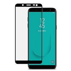 Samsung Galaxy J6 (2018) J600F用強化ガラス フル液晶保護フィルム サムスン ブラック