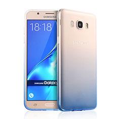 Samsung Galaxy J7 (2016) J710F J710FN用極薄ソフトケース グラデーション 勾配色 クリア透明 サムスン ネイビー