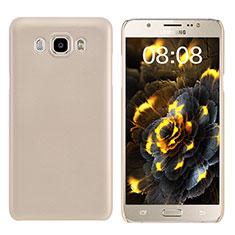 Samsung Galaxy J7 (2016) J710F J710FN用ハードケース プラスチック 質感もマット M03 サムスン ゴールド