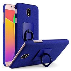 Samsung Galaxy J7 (2017) Duos J730F用ハードケース カバー プラスチック アンド指輪 サムスン ネイビー