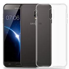 Samsung Galaxy J7 Plus用極薄ソフトケース シリコンケース 耐衝撃 全面保護 クリア透明 カバー サムスン クリア