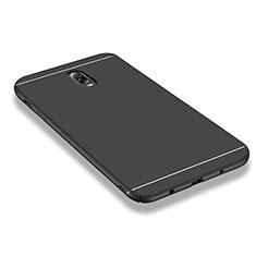 Samsung Galaxy J7 Plus用ハードケース プラスチック 質感もマット M01 サムスン ブラック