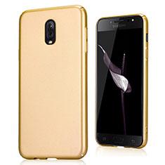 Samsung Galaxy J7 Plus用ハードケース プラスチック カバー サムスン ゴールド