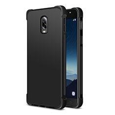 Samsung Galaxy J7 Plus用360度 フルカバー極薄ソフトケース シリコンケース 耐衝撃 全面保護 サムスン ブラック