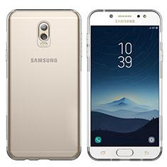 Samsung Galaxy J7 Plus用極薄ソフトケース シリコンケース 耐衝撃 全面保護 クリア透明 T03 サムスン クリア