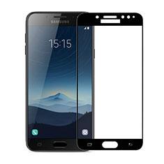 Samsung Galaxy J7 Plus用強化ガラス フル液晶保護フィルム サムスン ブラック