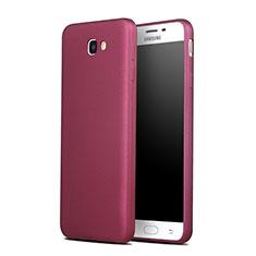 Samsung Galaxy J7 Prime用シリコンケース ソフトタッチラバー サムスン レッド
