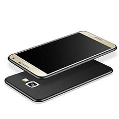 Samsung Galaxy J7 Prime用シリコンケース ソフトタッチラバー カバー サムスン ブラック